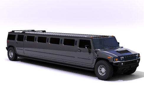 3dsmax hummer h2 limo