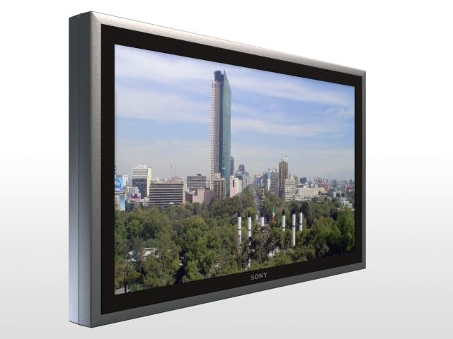 sony plasma tv 3d model