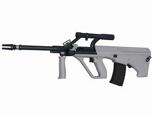 aug rifles 3d model
