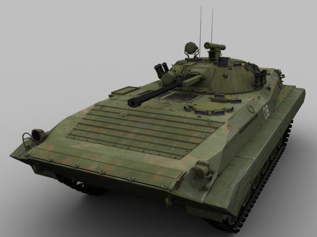 3d model of russian amphibious
