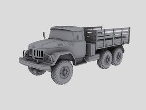 3ds max russian zil transport truck