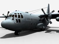 military c-130 3d max