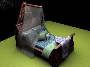 3d model chateau louis queen
