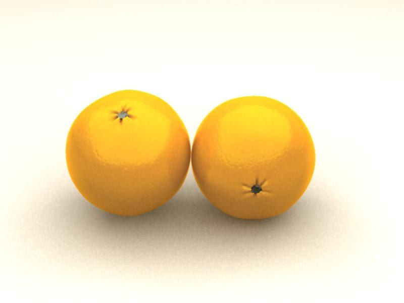 photo-realistic orange 3d model