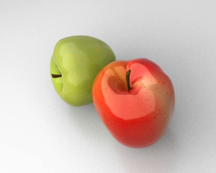 photo-realistic apples 3d max