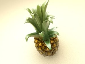 3ds max photo-realistic pineapple