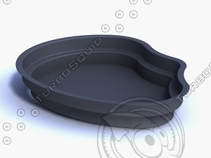 3d ornamental fishpond pool fish