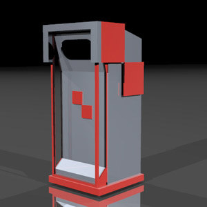 trash container 3d max