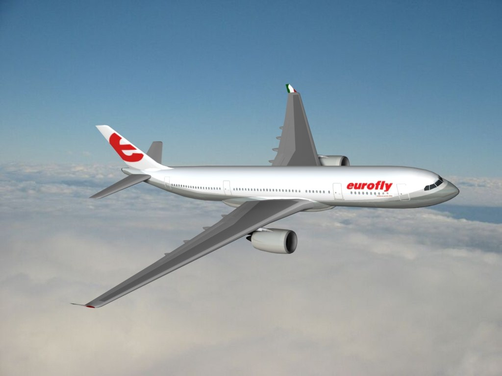 3ds max a350-800 eurofly aircraft airbus