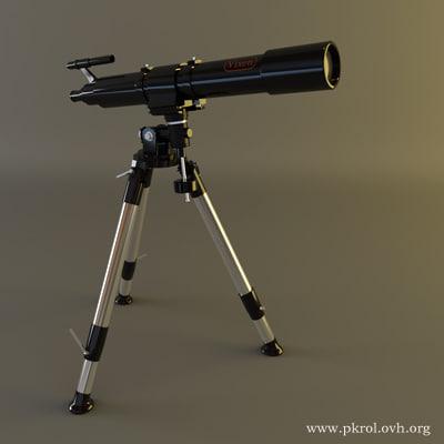 telescope 3d max