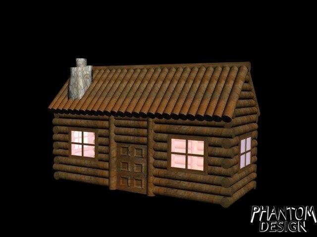 3d model log cabin