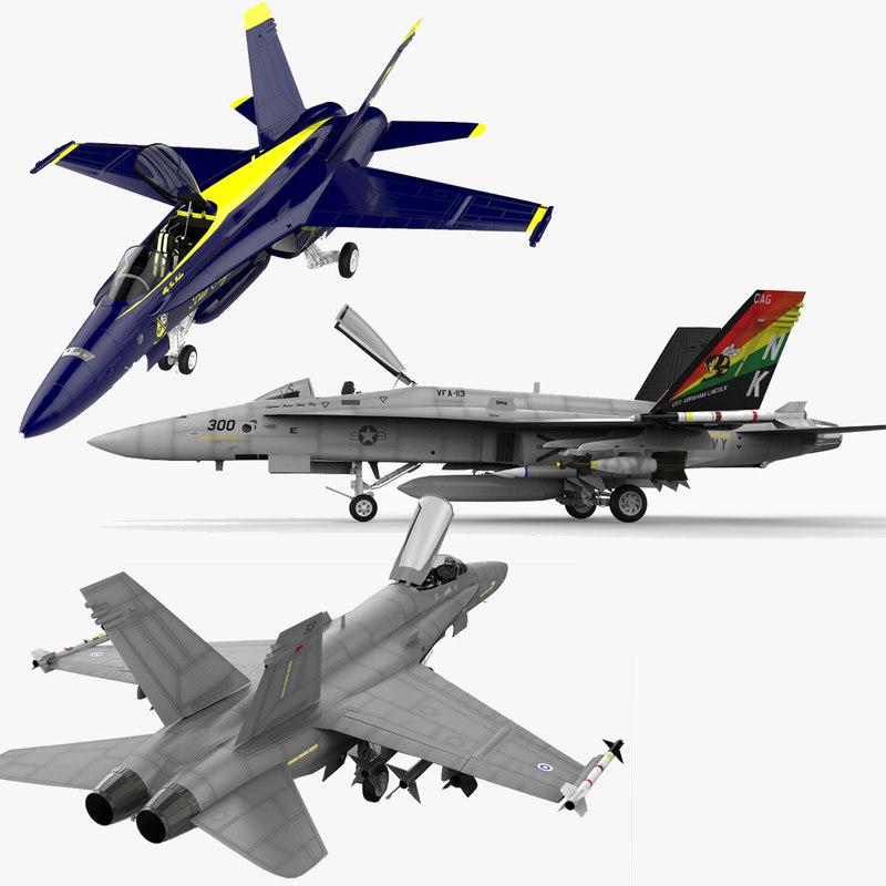 f-18 hornet f a-18 3d model