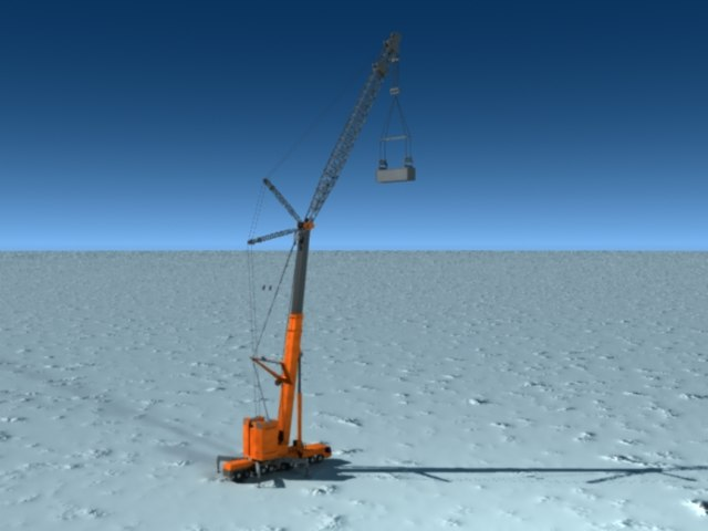 pivoting tower crane 3d model