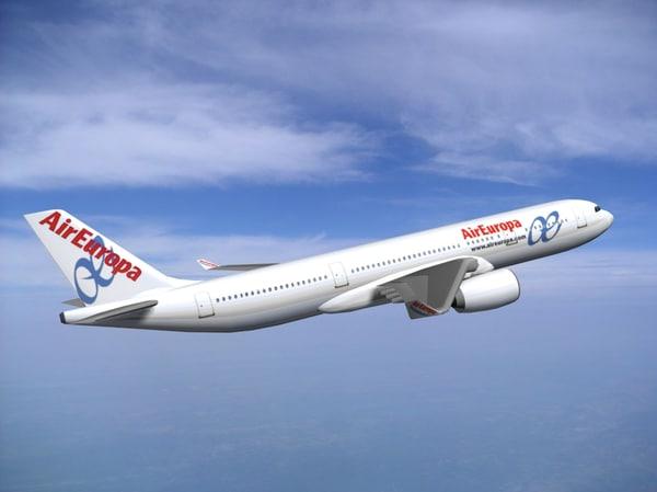 a350-800 air europa a350 3d max