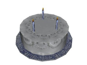 3d cake candles plate model
