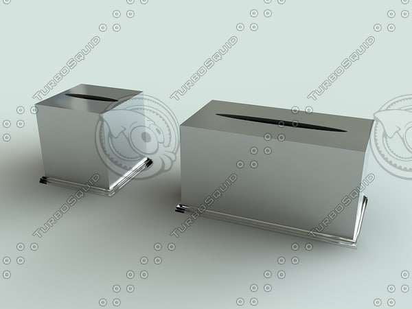 tissue box holders solaris 3d model