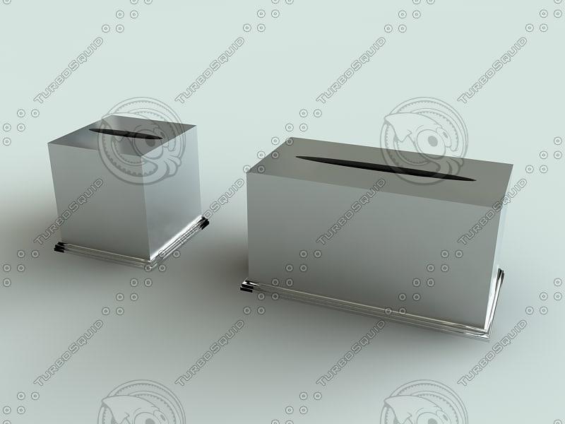 tissue box holders solaris 3d model