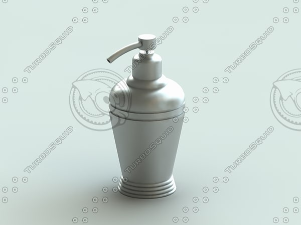 3dsmax lotion soap dispenser solaris