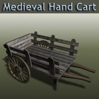 old medieval cart 3d model