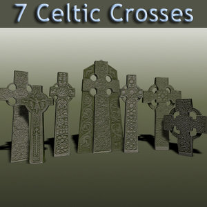 celtic crosses 3d max