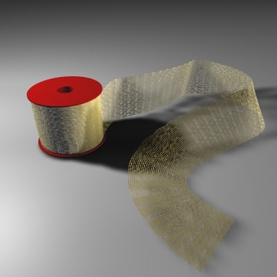 3d model roll ribbon presents
