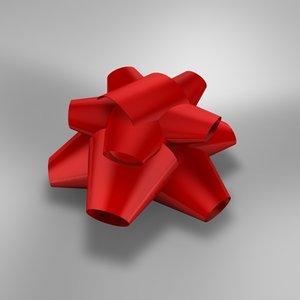 bow present 3d model