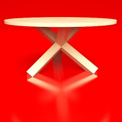 free larotonda table 3d model