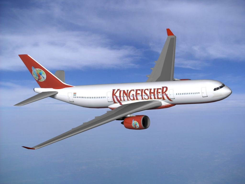 A350 800 Kingfisher Airbus 3d Max