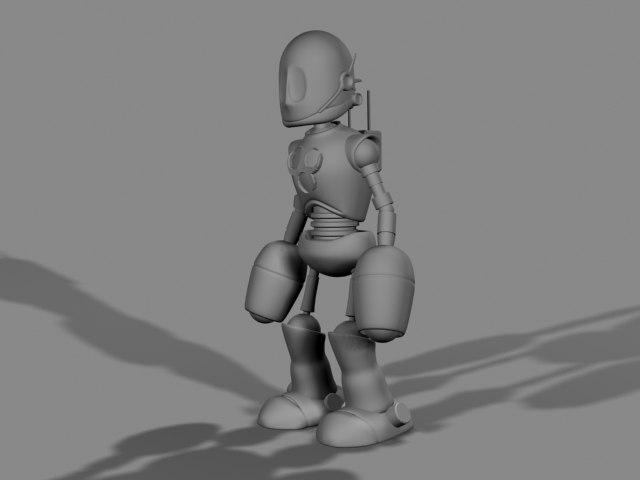 3d small robot model