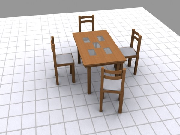 table chairs 3ds