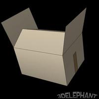 box pallet 3d obj