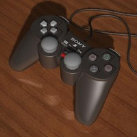 3d model playstation controller