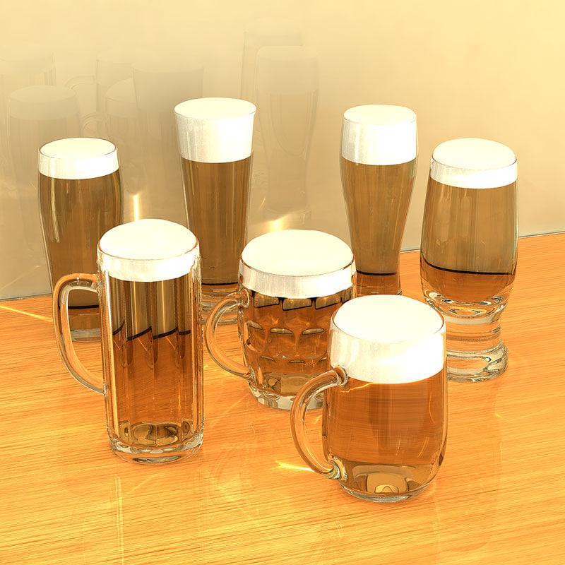 3d model of beer glasses
