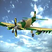 douglas a1d skyraider 3d model