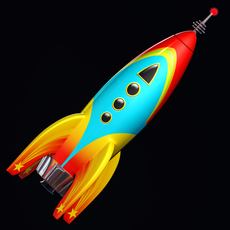 3d 3ds toy rocket