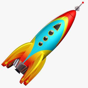 3d 3ds toy rocket