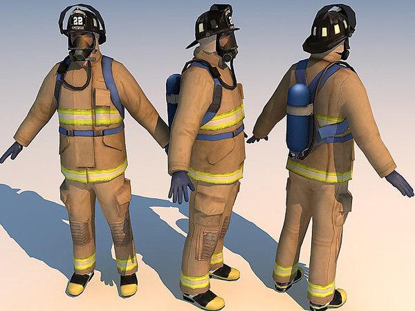 fireman 01 3d model