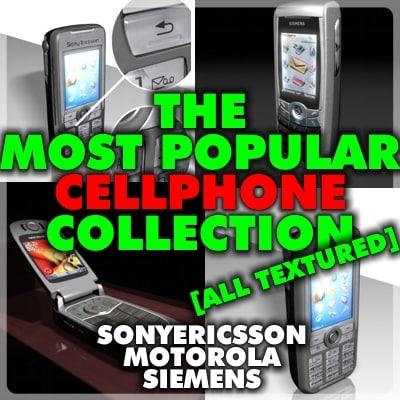 popular cellphones cell phone 3d model