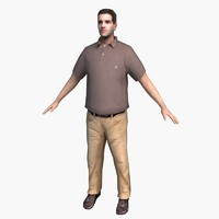 3d model character casual 07