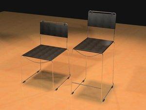 giulietta chairs 3d model