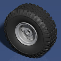 3ds max tire wheel go-karts