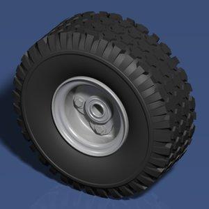 3ds max tire wheel go-karts