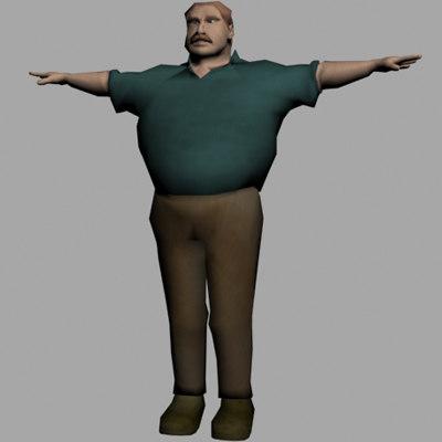 character man 3d max
