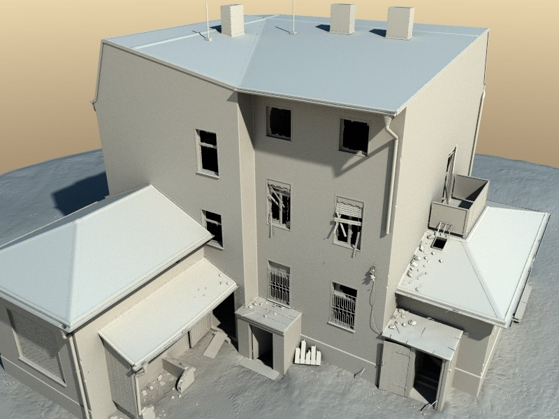 3d model house decayed