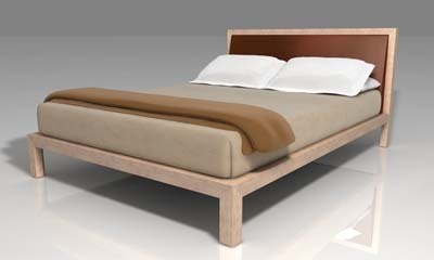 3d queen bed