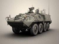 army stryker nbcrv 3d model