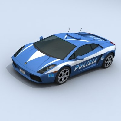 3d model of lamborghini gallardo polizia car police