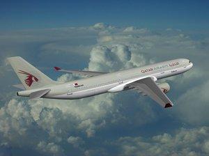 airbus industrie a350-900 qatar 3ds