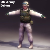 3ds max us-army driver military