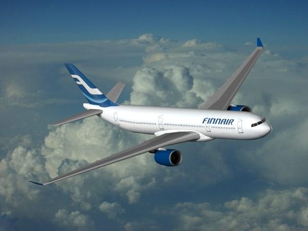 airbus industrie a350-900 finnair 3d 3ds